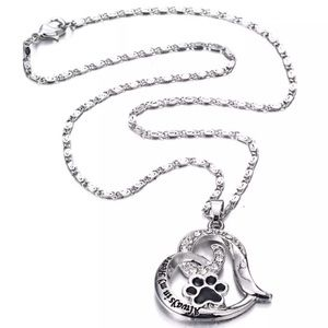 Always in my Heart Necklace with paw print 🐾